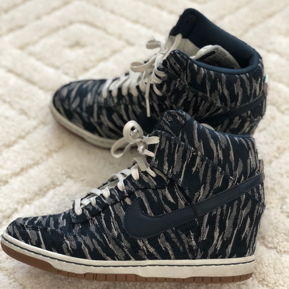 quite nice 7dc87 77c25 ... denmark nike sky high sail armory navy wedge sneakers fad99 a78a4